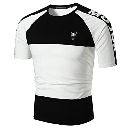 0fd7345c665d Amazon.com   Elogoog Handsome T-shirt for Mens