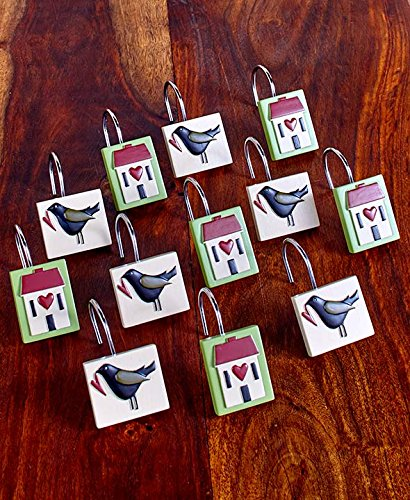 The Lakeside Collection Set of 12 Faith & Family Shower Curtain Hooks