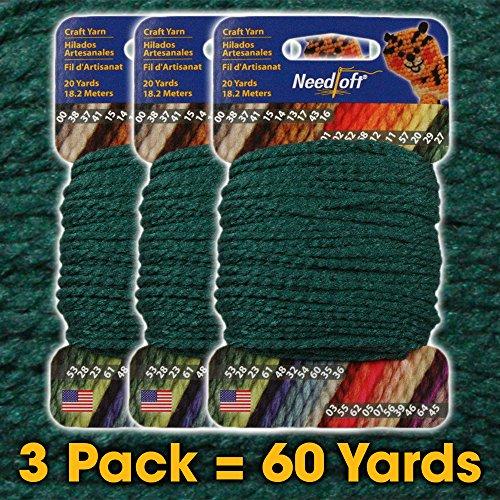 #27 Holly - Needloft Craft Yarn 3 Pack 60 Yards (3x20yds)