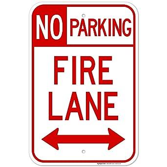 Fire Lane No Parking Both Side Sign