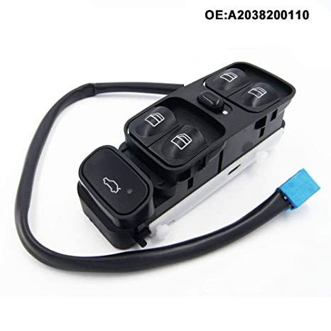 Neu Fensterheber Schalter Vorne Links für Mercedes-Benz C-Klasse W203 2038200110