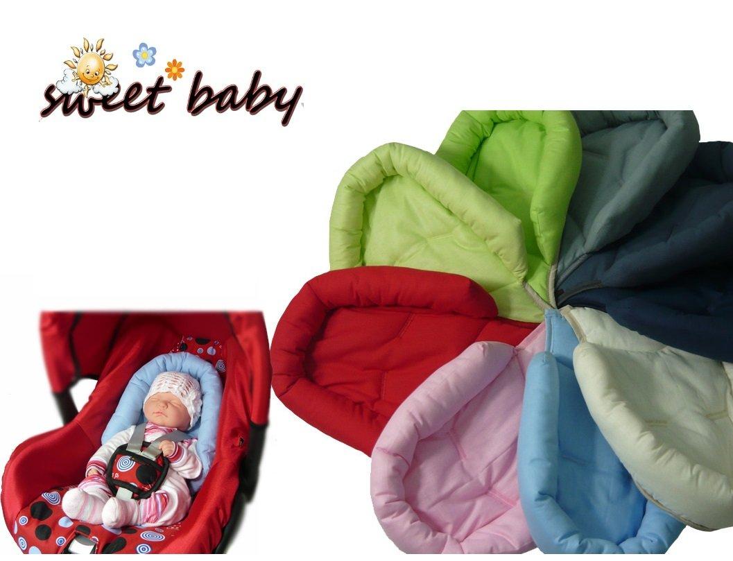 Sweet Baby ** SOFTY AZUL MARINO ** Reductor para silla de bebé Maxi Cosi / Römer etc. / Protector de cuerpo para coche (0-6 meses)