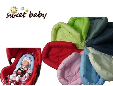 Sweet Baby * * gris * * Softy reductor para bebé/recién nacido como cojín reductor de asiento 0/0 + Universal de coche Maxi Cosi, Römer y otros