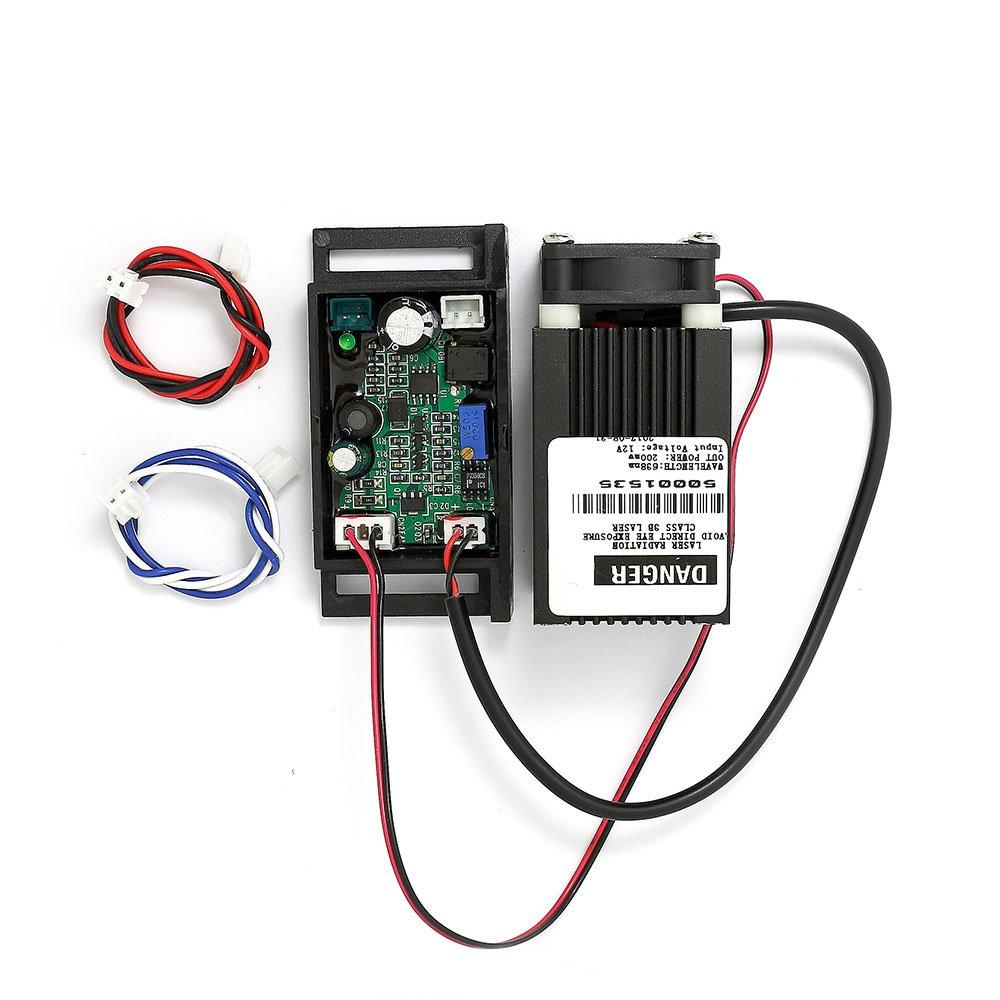 200/mW 635/nm non-focusable Laser Rouge Dot Module w//TTL