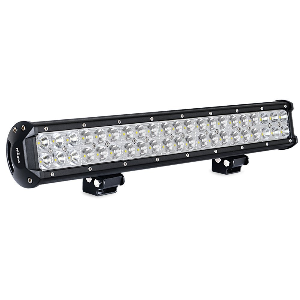 LED Light Bar Nilight 20 Inch 126w LED Work Light Spot Flood Combo Led Bar Off Road Lights Driving Lights Led Fog Light Jeep Lights Boat Lighting ,2 Years Warranty