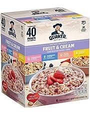 Quaker Instant Oatmeal Fruit and Cream Flavors 40 X 1.05 Ounce Net Wt 42.3 Ounce, 42.3 Ounces