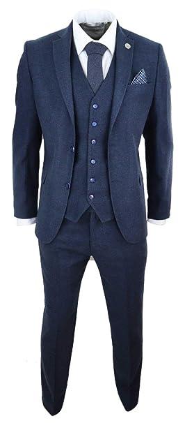 Amazon.com: Traje para hombre de lana de tweed Peaky ...