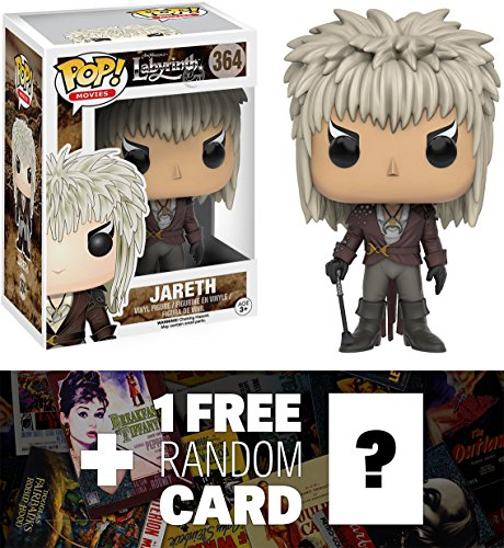 Jareth: Funko POP! x Labyrinth Vinyl Figure + 1 FREE Classic Movie Trading Card Bundle (108249) (Goblin King Jareth)