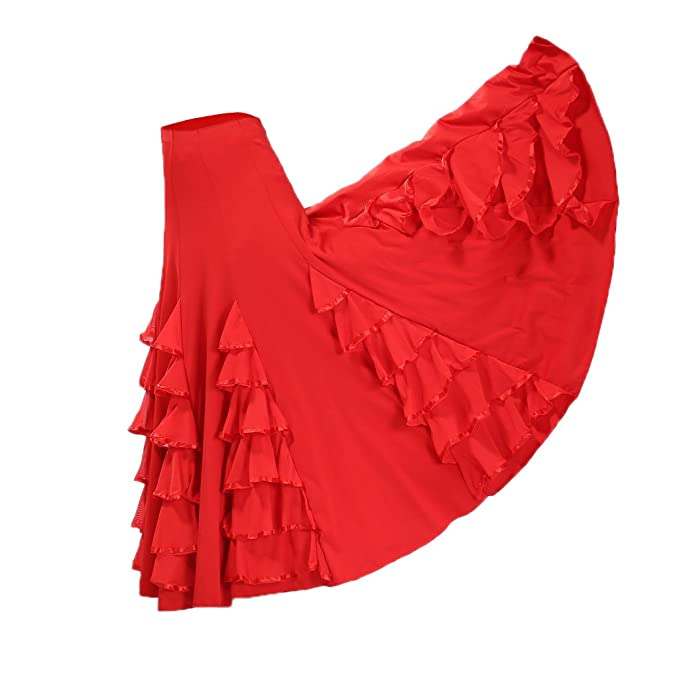 Homyl Traje de Baile de Mujer Salsa Tango Cha Cha Flamenco ...