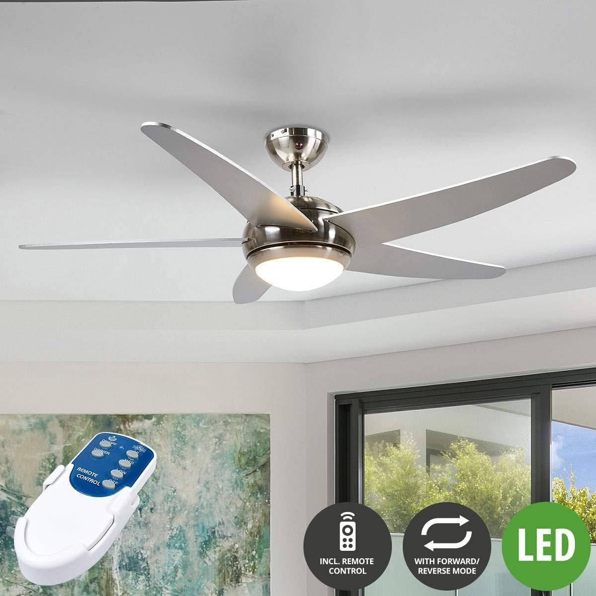 für Wohnzimmer & Esszimmer Lampenwelt LED Deckenventilator mit