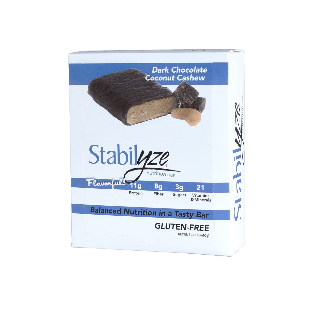 Stabilyze Nutrition Bar Dark Chocolate Coconut Cashew
