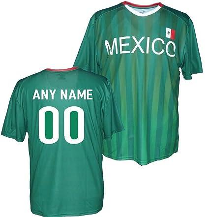 Amazon.com   Custom Mexico Jersey - Any Name   Number   Sports ... 3fb1e6ef0