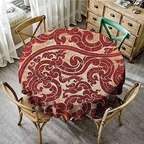 Rank-T Floral Round Tablecloth 47
