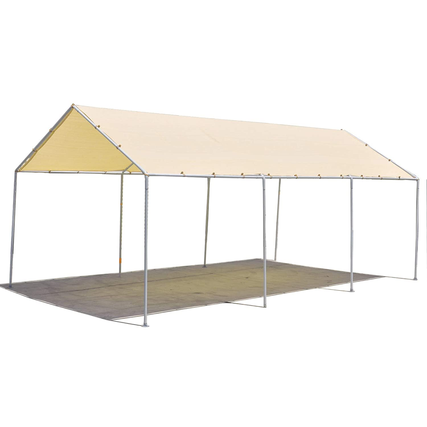 Alion Home Waterproof Woven Carport Canopy Replacement Shade Cover for Low & Medium Peak(Frame Not Included) (10' x 7', Desert Sand) AH-WCRC-DS1007