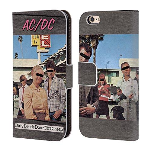 Officiel AC/DC ACDC Actes Sales Faits Sale Bon Marché Couverture D'album Étui Coque De Livre En Cuir Pour Apple iPhone 6 / 6s