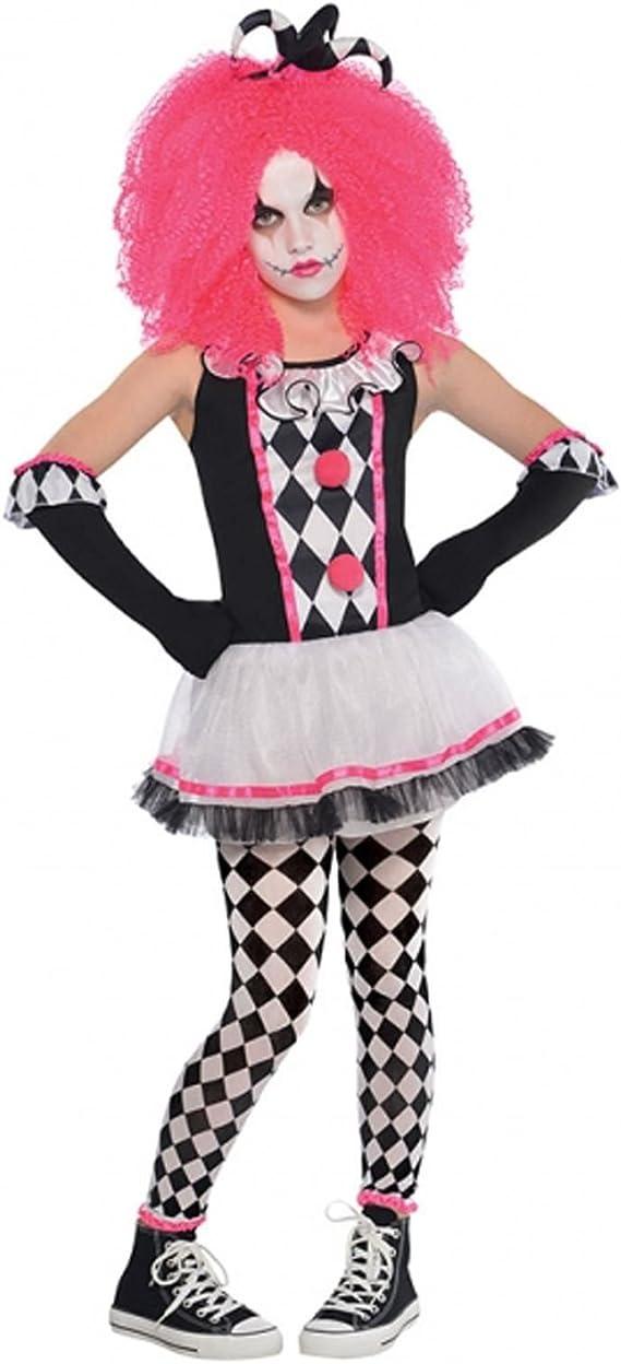 Amscan - Disfraz de payaso de circo para niña, color rosa: Amazon ...