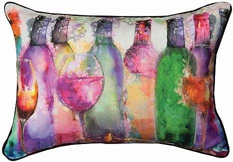 Amazon.com: ShwnSP - Cojín de vino, rectangular, con tinte ...