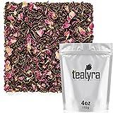 Tealyra - Rosy Earl Grey - Black Tea from Sri Lanka with Jasmine Green Tea and Rose Petals - Fresh Award Winning Tea - Loose Leaf Tea - Medium Caffeine - 110g (4-ounce)