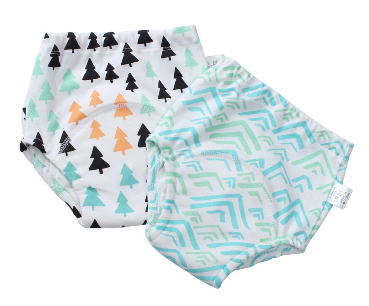 Eozy 2er Pack Baby Windelhose Unterhose Junge Mädchen Trainerhosen Windeln