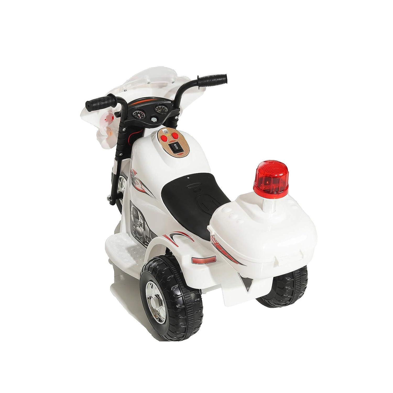 Elektro Kinder Motorrad Kinderfahrzeug Polizei Elektromotorrad LQ998 Weiß Kinderfahrzeuge