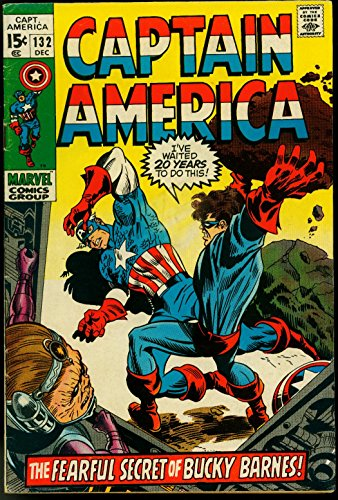 Captain America #132 1970- Modok- Bucky Barnes- Marvel Comics VG