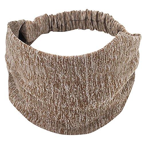 Neutral high elastic sports headband cotton knotted headband broadband sports yoga sweatband -