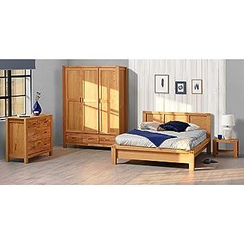 Pharao24 Schlafzimmer Set Eiche lackiert komplett Breite 177 cm ...