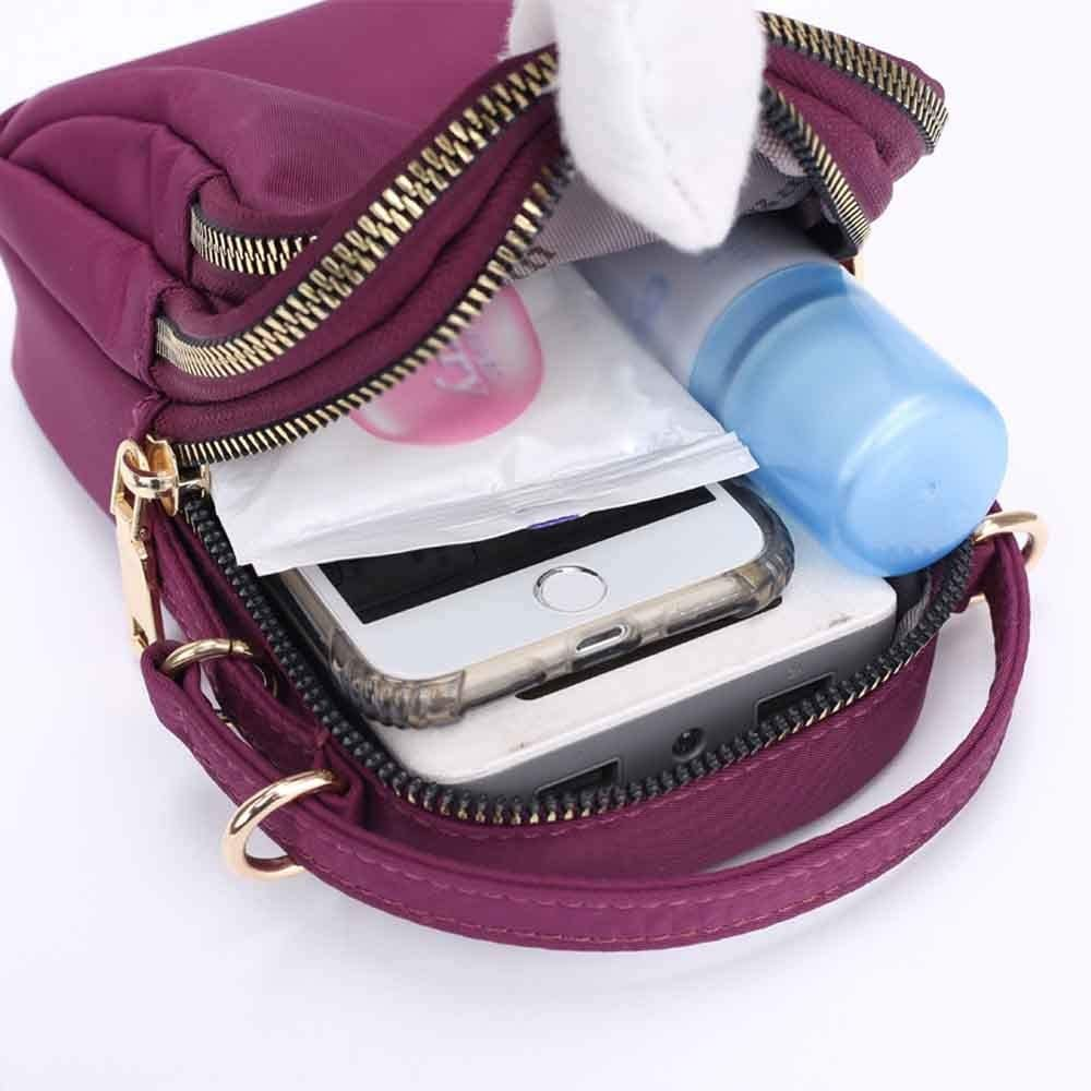 Women Shoulder Messenger Bag Lightweight Nylon Bag Mobile Phone Headset Bag