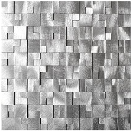 3D Raised Cobblestone Pattern Aluminum Mosaic Tile   Kitchen Backsplash /  Bath Backsplash / Wall Decor