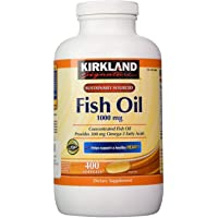 Kirkland Signature Fish Oil Concentrate with Omega-3 Fatty Acids, 400 Softgels,...