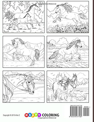 Beautiful Horses Coloring Book for Adults Happy Coloring Amanda