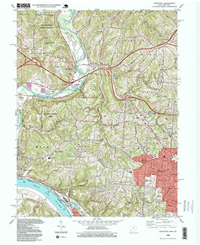 Addyston OH topo map, 1:24000 scale, 7.5 X 7.5 Minute, Historical, 1996, updated 1999, 26.9 x 22 IN - Paper