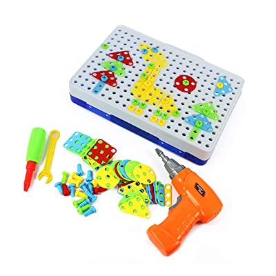 MXECO 150/240/234 Pcs Bloques de construcción ensamblados Taladro eléctrico DIY Juguetes para niños Tornillo de desmontaje práctico Regalos de Juguete para niños: Juguetes y juegos