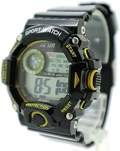 BestTime Sport Digital Watch Yellow/Black Color Rubber Strap GIFS for Boys & Girls