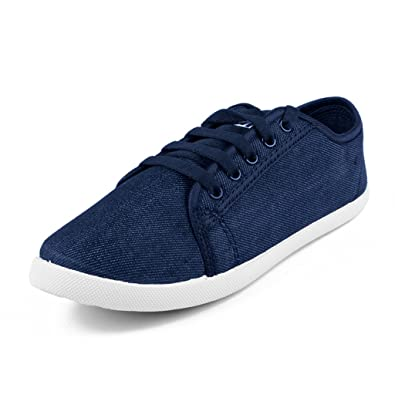 22c1d1243 Asian shoes Women s Navy Blue Canvas Sneakers(9 UK India)  Buy ...