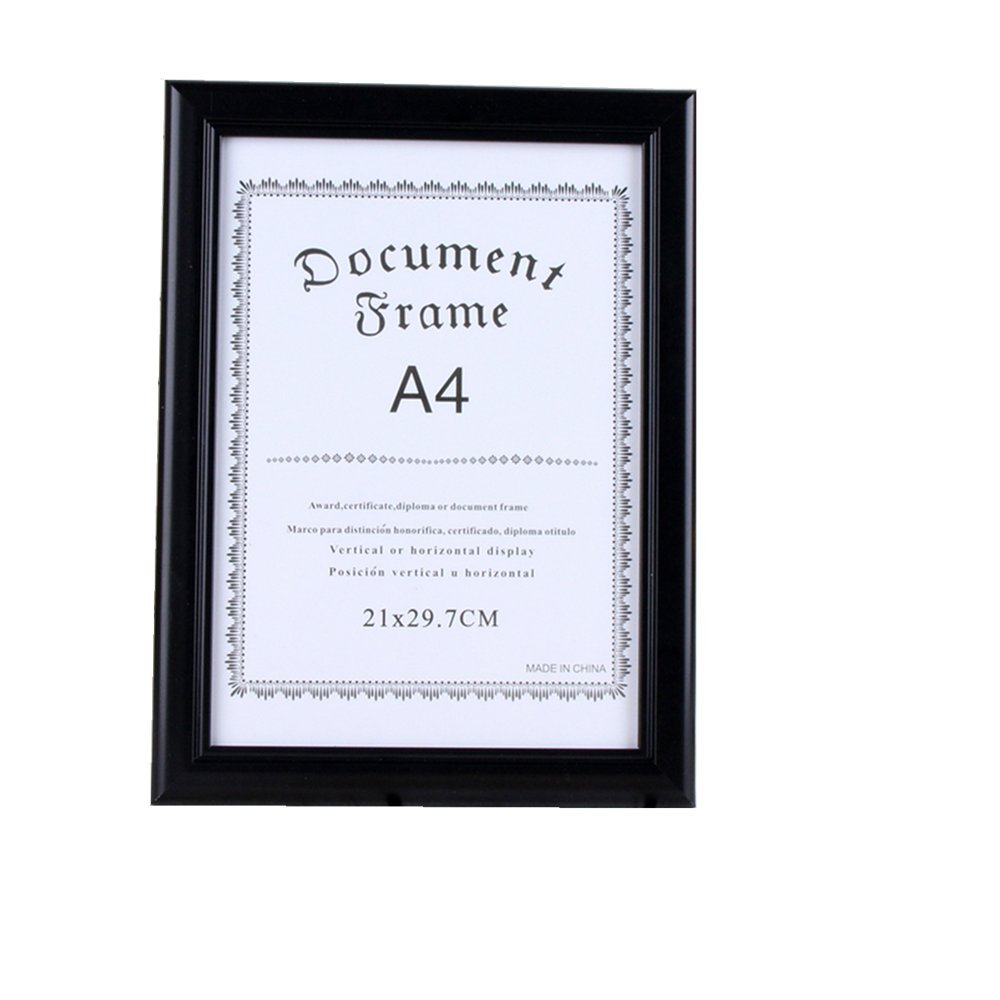 leyoubei black Frame display 8 1/4-by-11 3/4-inch Photo Simple frame for documents or photographs A4 paper for international size