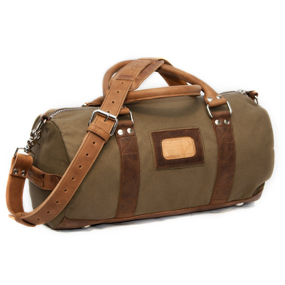 8bb2093573a0 Amazon.com | Elkton Small Duffle Gym Bag - Waxed Canvas and Leather ...