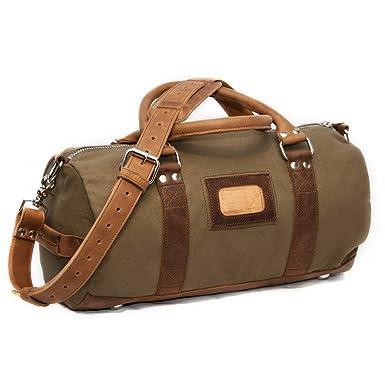 0baf55587e9 Amazon.com   Elkton Small Duffle Gym Bag - Waxed Canvas and Leather ...