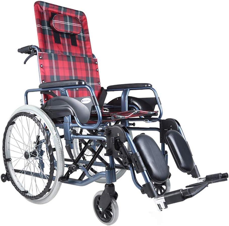 ZJN-JN 車いす 歩行補助用品 医療リハビリテーション椅子、車椅子、車椅子軽量23キロ折りたたみ交通車椅子人間工学に基づいた座席快適な調節可能なアームレストバックス美脚100キロ耐荷重45 * 46センチメートルシート 介護・介助兼用