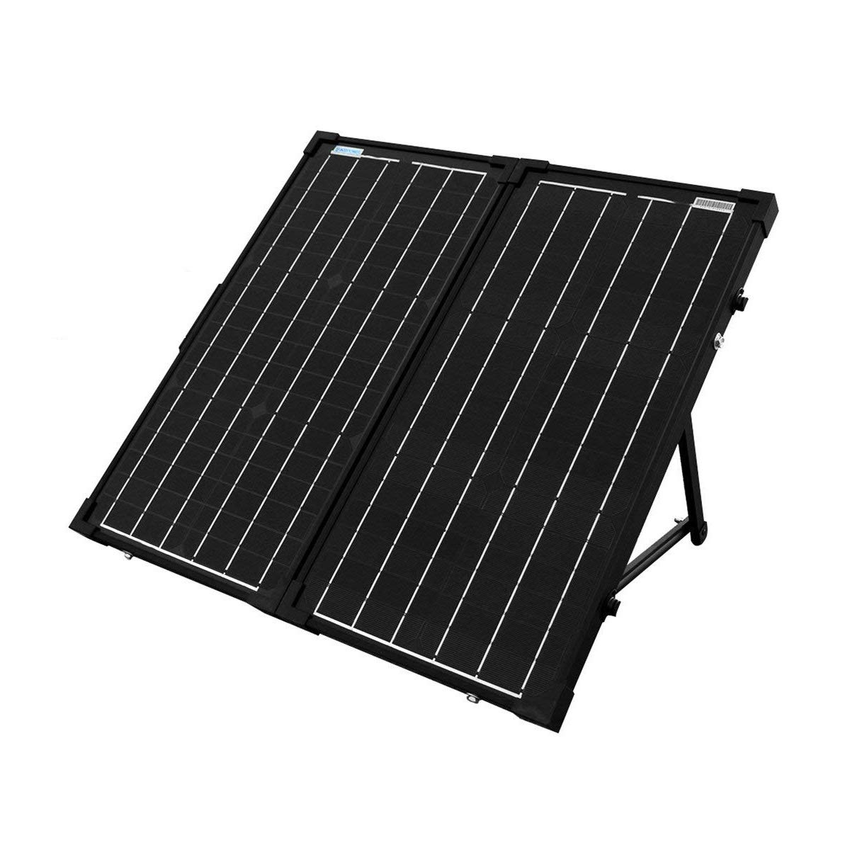 ACOPOWER HYS60-12MB 60W Foldable Panel, 12V Battery and Generator Ready Suitcase with Charge Controller Portable Solar kit by ACOPOWER