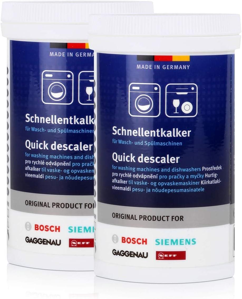 2 x BSH schn cocido antical 250 g – Descalcificador para lavadora ...