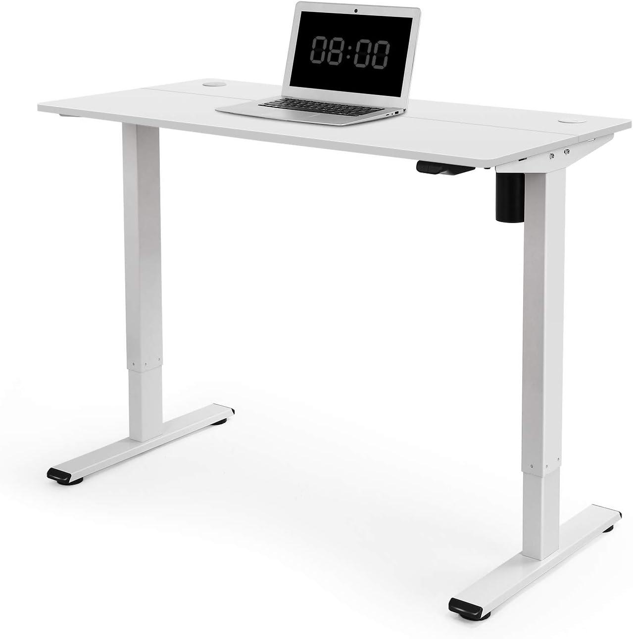 Bianco FLEXISPOT EG1 Scrivania Elettrica Regolabile in Altezza 2 Controller Programmabile con Un Piano Lavoro di 100x60cm