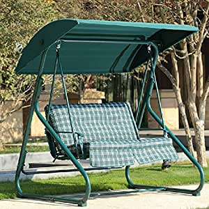 Doble un al aire libre Swing para colgar cesta silla mecedora balcón dormitorio