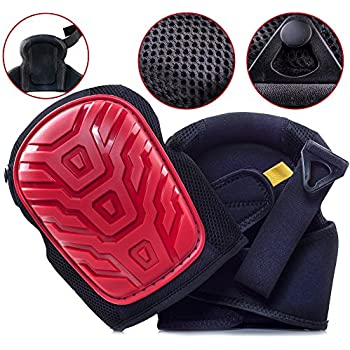 Professional Knee Pads   EASY TO WEAR Heavy Duty Memory Foam Padding,  COMFORTABLE GEL CUSHION