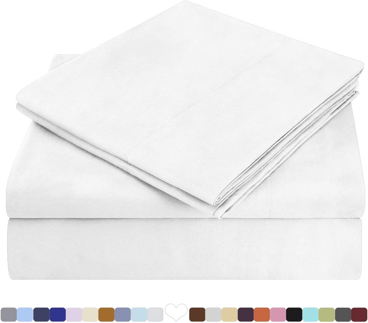 HOMEIDEAS Bed Sheets Set Extra Soft Brushed Microfiber 1800 Bedding Sheets
