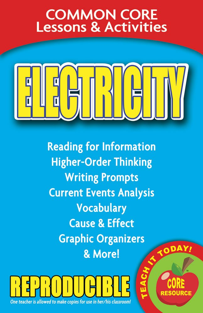 Read Online Electricity - Common Core Lessons and Activities ebook