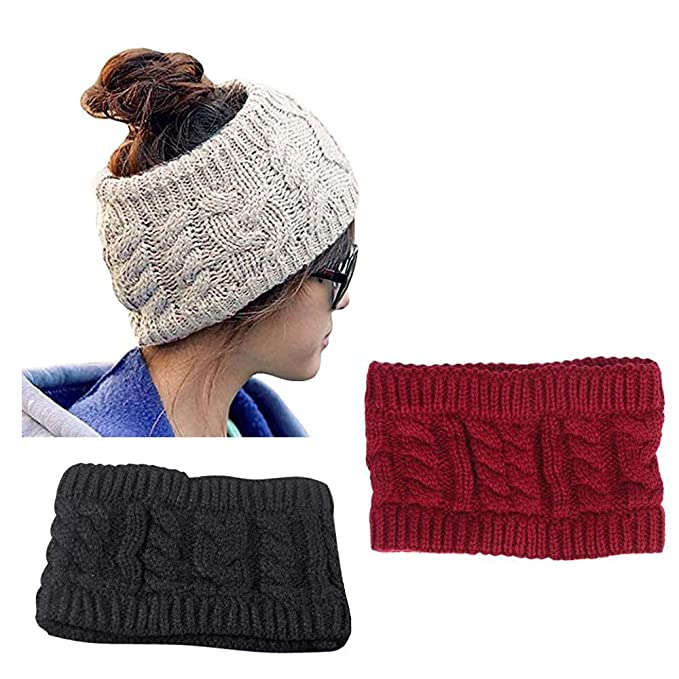 Image Unavailable. Image not available for. Color  CRIVERS 3pc Winter  Knitted Headband - Crochet Twist Hair Band Headwrap Hat Cap Ear Warmer ( 85d609bec899