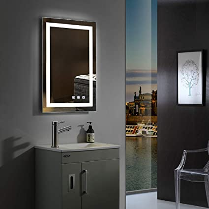 Wall Mount Bluetooth Speaker Dimming Led Waterproof Smart Touch Switch Control Bathroom Mirror Multi Function Illuminated Make Up Vanity Mirror Frivity 24x32 Inch Bathroom Vanity Mirror With Led Bath Bathroom Accessories