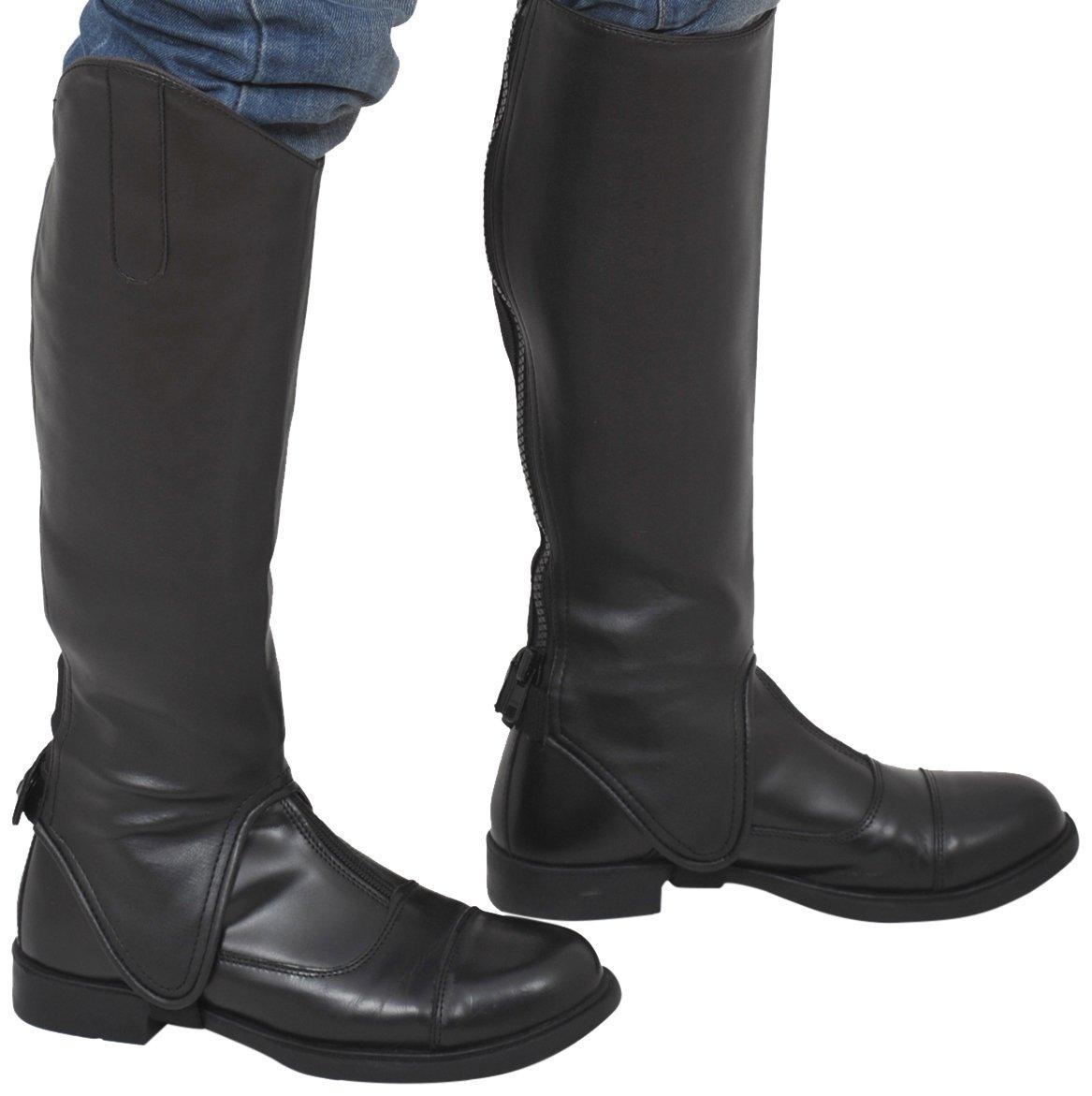 (XXL = Mollet (42-44)cm x Hauteur-44cm, black black) Riders Trend 10023010 gaiters