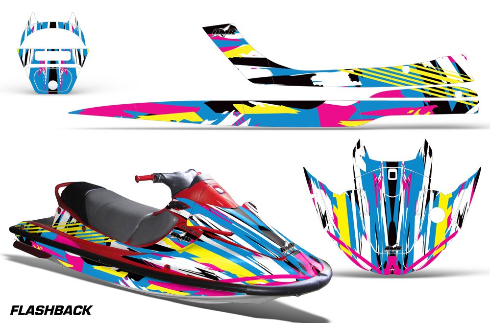 Amazon 1997 1999 Kawasaki STX 1100 AMRRACING Jet Ski Graphics Decal Kit